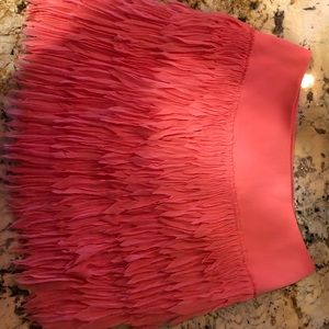 Ann Taylor fringe mini skirt 0